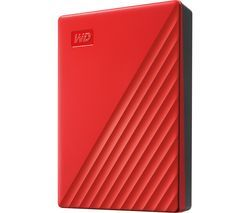WD My Passport Portable Hard Drive - 4 TB, Red Best Price, Cheapest Prices