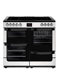 New World Vision 100E 100cm Wide Electric Range Cooker (Stainless Steel) with Connection Best Price, Cheapest Prices