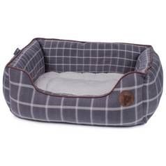 Petface Large Square Dog Bed - Grey Window Check Best Price, Cheapest Prices