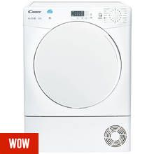 Candy CSC10LF 10KG Sensor Dry Condenser Tumble Dryer - White Best Price, Cheapest Prices
