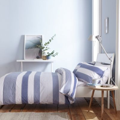 Catherine Lansfield Newquay Stripe Bedding Set Best Price, Cheapest Prices