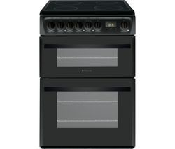 HOTPOINT DCN60K.1 60 cm Electric Ceramic Cooker - Black Best Price, Cheapest Prices