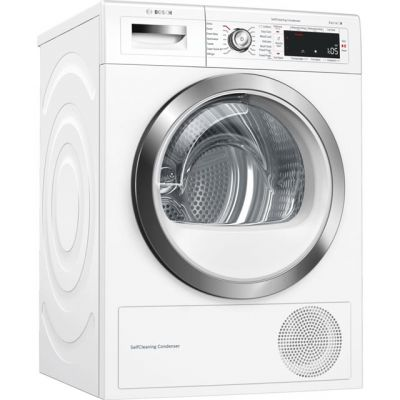 Bosch Serie 8 WTWH7561GB Wifi Connected 9Kg Heat Pump Tumble Dryer - White - A++ Rated Best Price, Cheapest Prices