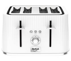 TEFAL Loft TT60140 4-Slice Toaster - Pure White Best Price, Cheapest Prices