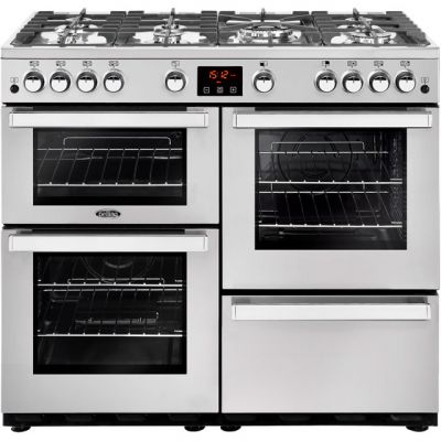 Belling Cookcentre100GProf 100cm Gas Range Cooker - Stainless Steel - A/A Rated Best Price, Cheapest Prices