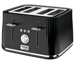 TEFAL Loft TT60840 4-Slice Toaster - Piano Black Best Price, Cheapest Prices