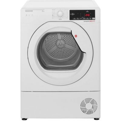 Hoover Dynamic Next DXC8TG 8Kg Condenser Tumble Dryer - White - B Rated Best Price, Cheapest Prices