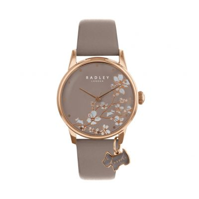 Radley Ladies Grey Leather Strap Watch Best Price, Cheapest Prices