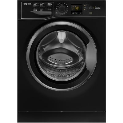 Hotpoint NSWM843CBSUK 8Kg Washing Machine with 1400 rpm - Black - A+++ Rated Best Price, Cheapest Prices