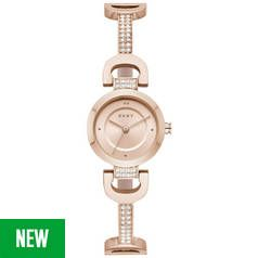 DKNY Rose Gold Coloured Dial Stainless Steel Strap Watch Best Price, Cheapest Prices