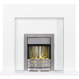 Adam Miami Electric Fire Suite with Helios Inset - White Best Price, Cheapest Prices