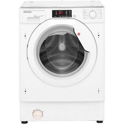 Hoover HBWM914D Integrated 9Kg Washing Machine with 1400 rpm - A+++ Rated Best Price, Cheapest Prices
