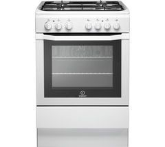 INDESIT I6GG1W 60 cm Gas Cooker - White Best Price, Cheapest Prices