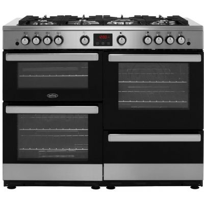 Belling Cookcentre110G 110cm Gas Range Cooker - Stainless Steel - A/A Rated Best Price, Cheapest Prices