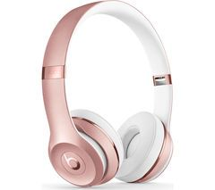 BEATS Solo 3 Wireless Bluetooth Headphones - Rose Gold Best Price, Cheapest Prices