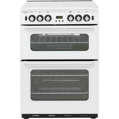 Newworld Newhome 600TSIDOM 60cm Gas Cooker with Electric Grill - White - A/A Rated Best Price, Cheapest Prices