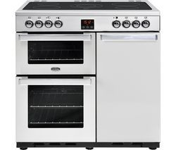 BELLING Gourmet 90E PROF STA 90 cm Electric Range Cooker - Stainless Steel Best Price, Cheapest Prices
