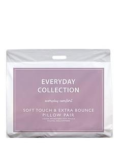 Everyday Collection Soft Touch and Extra Bounce Pillows (Pair) Best Price, Cheapest Prices