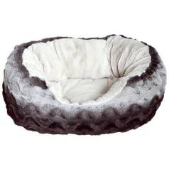 Rosewood Greay and Cream Snuggle Plush Pet Bed Oval - Large Best Price, Cheapest Prices