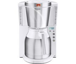 MELITTA Look IV Therm Timer Filter Coffee Machine - White & Stainless Steel Best Price, Cheapest Prices