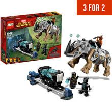 LEGO Black Panther Rhino Face-Off By The Mine - 76099 Best Price, Cheapest Prices