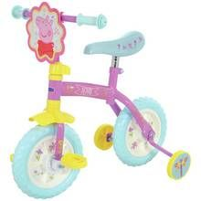 Peppa Pig 2 in 1 10 Inch Trainer Bike Best Price, Cheapest Prices