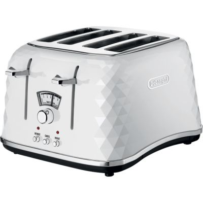 De'Longhi Brilliante CTJ4003.W 4 Slice Toaster - White Best Price, Cheapest Prices