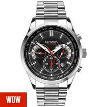 Sekonda Men's Stainless Steel Bracelet Dual Time Watch Best Price, Cheapest Prices