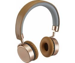 GOJI Collection GTCONRG18 Wireless Bluetooth Headphones - Rosegold Best Price, Cheapest Prices