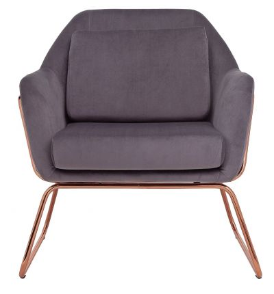 Argos Home Juliette Velvet Accent Chair - Charcoal Best Price, Cheapest Prices
