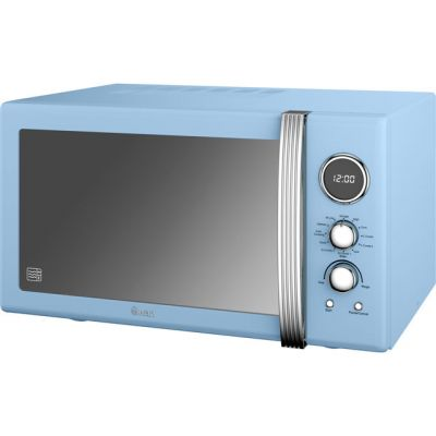 Swan Retro Digital SM22080BLN 25 Litre Combination Microwave Oven - Blue Best Price, Cheapest Prices
