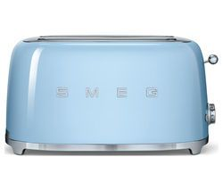 SMEG TSF02PBUK 4-Slice Toaster - Pastel Blue Best Price, Cheapest Prices