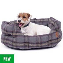Petface Small Oval Bed - Grey Tweed Best Price, Cheapest Prices