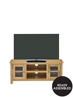 Luxe Collection - London Oak Ready Assembled Tv Unit - Fits Up To 50 Inch Tv Best Price, Cheapest Prices