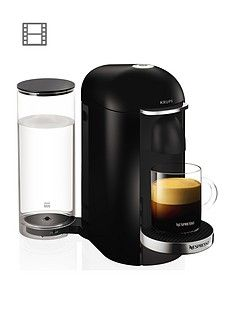 Nespresso Xn900840 Vertuo Plus Coffee Machine By Krups - Piano Black Best Price, Cheapest Prices