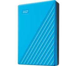WD My Passport Portable Hard Drive - 4 TB, Blue Best Price, Cheapest Prices