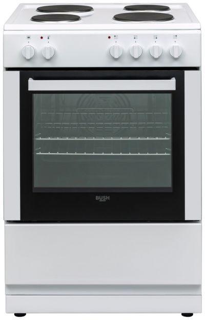 Bush DHBES60WX 60cm Single Electric Cooker - White Best Price, Cheapest Prices