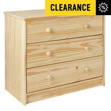 HOME Jakob 3 Drawer Chest - Pine