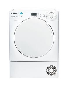Candy Smart CSC9LF 9kg Load Condenser Sensor Tumble Dryer - White Best Price, Cheapest Prices