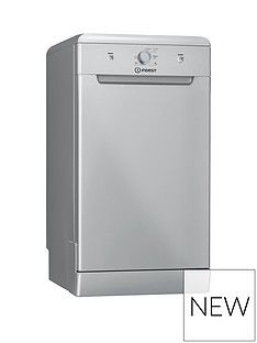 Indesit DSFE1B10S 10-Place Slimline Dishwasher - Silver Best Price, Cheapest Prices