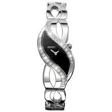 Seksy Ladies' 4276 Black Swirl Dial Bracelet Watch Best Price, Cheapest Prices