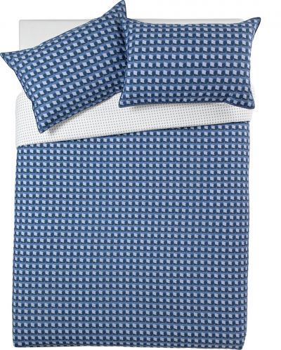 Argos Home Blue Geo Bedding Set - Double Best Price, Cheapest Prices