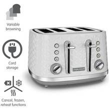 Morphy Richards 248134 Vector 4 Slice Toaster - White Best Price, Cheapest Prices