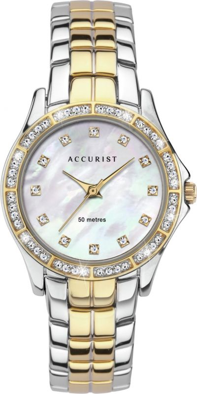 Accurist Ladies Two Tone Stainless Steel Best Price, Cheapest Prices