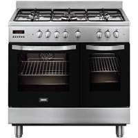 Zanussi ZCK98307XA 90cm Dual Fuel Range Cooker in Stainless Steel Best Price, Cheapest Prices