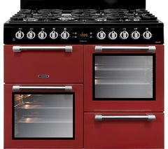LEISURE Cookmaster 100 CK100F232R 100 cm Dual Fuel Range Cooker - Red & Chrome Best Price, Cheapest Prices