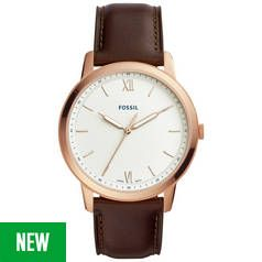 Fossil Minimalist Men's Brown Leather Strap Watch Best Price, Cheapest Prices