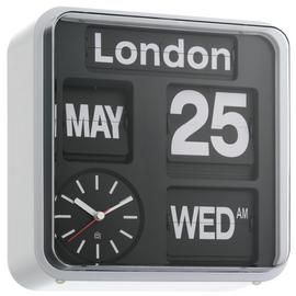 Habitat Flap City Wall Clock - Black Best Price, Cheapest Prices