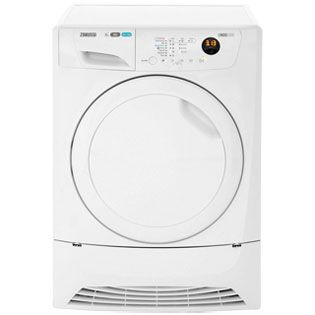 Zanussi Lindo1000 ZDH8333PZ 8Kg Heat Pump Tumble Dryer - White - A+ Rated Best Price, Cheapest Prices