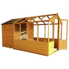 Mercia Wooden 12 x 6ft Greenhouse Combi Shed